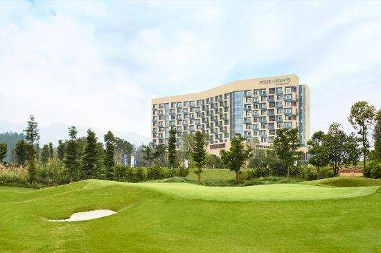 Pujiang County, China: view of hotel