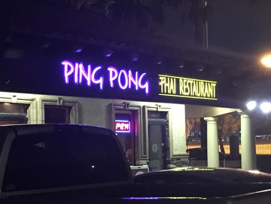 Ping Pong Thai Restaurant Las Vegas