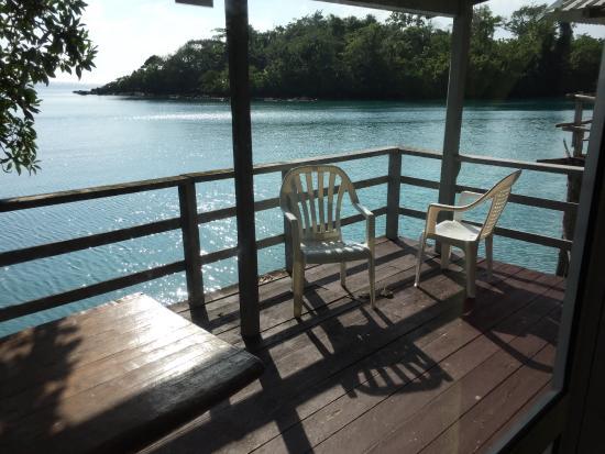 Salelologa, ซามัว: Balcony from room
