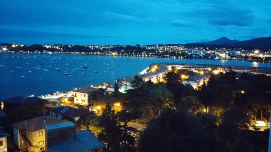 Parador de Hondarribia: Evening view from room. It really was this beautiful!!!