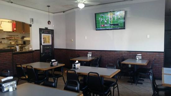 Inside Luigi's Pizza Parlor in Holly Hill, Florida