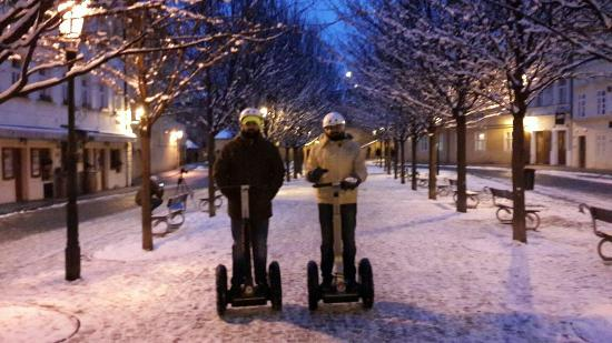 Segway Rent Prague: Segway ride across prague....fantastic time....Kristina was great fun to be with..Thank you