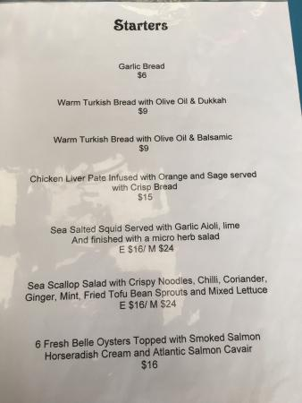 Edithburgh, Australien: Menu photos