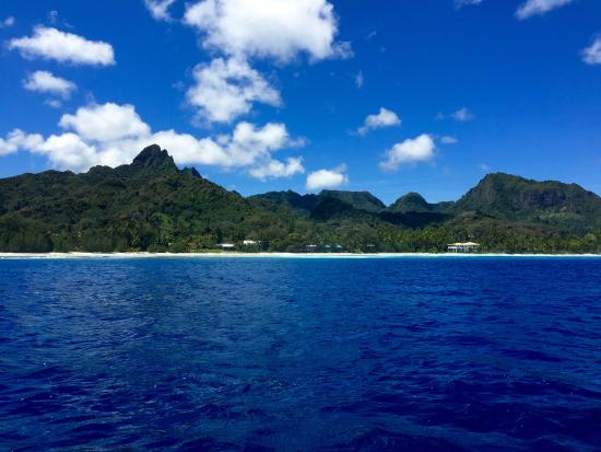 Pacific Divers: Getting close to one of our dive sites at the Cook Islands