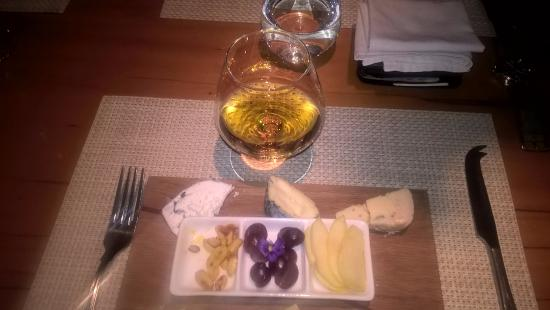 Aubergine: KWV 20 years old plus local Cape cheeseboard