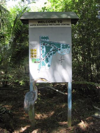 Kota Kinabalu City Bird Sanctuary: map