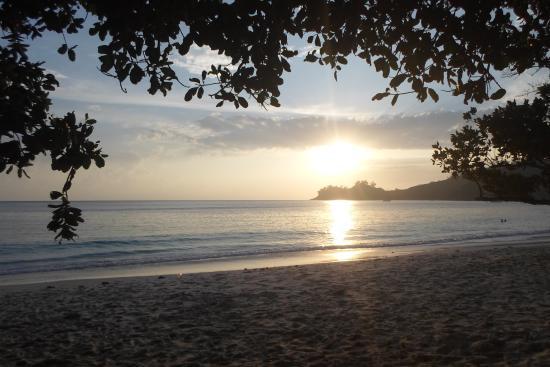 Anse La Mouche, Seychellerna: sunset beach