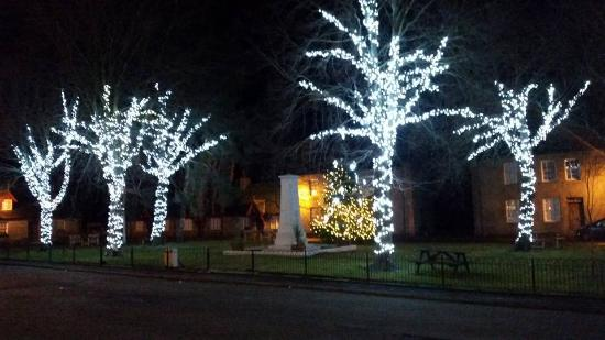 Monymusk, UK: The Square, showing the lovely Christmas Lights