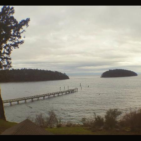 Mayne Island Resort: View from the villa.