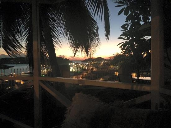 Villa Santana: Just after sunset in the gazebo by the pool.
