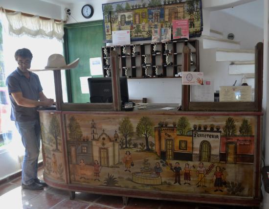 Matan Ka'an Hotel: Lobby - the reception desk is an antique railway ticket - Lobby - The Reception Desk Is An Antique Railway Ticket Counter