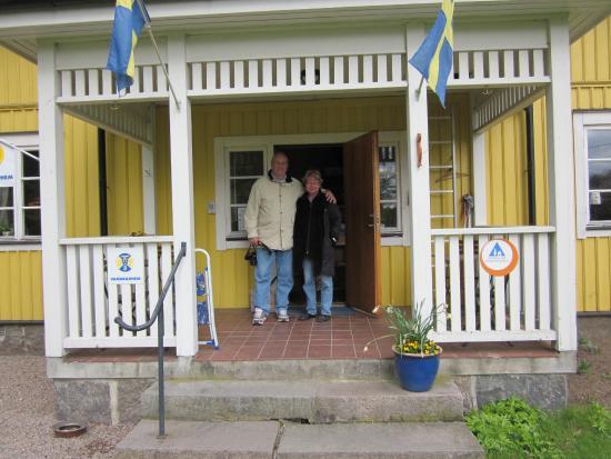 Ljungbyhed, Suecia: Entrén till Spångens gästgiveri.