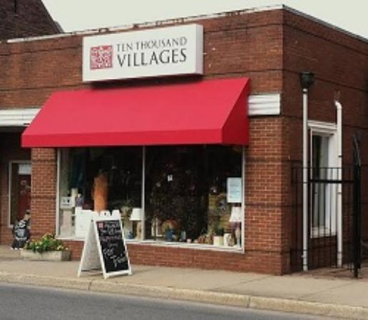 Ten Thousand Villages : A street view of our store from Main St.