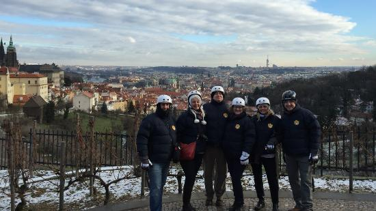 Segway Rent Prague: Photo taken by Pavel of the six of us