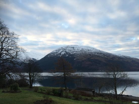 Onich, UK: view at hotel