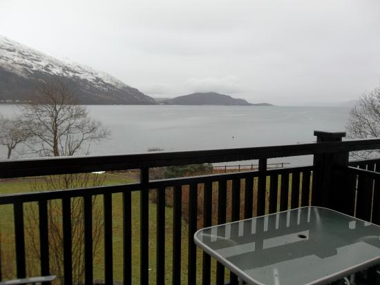 Onich, UK: view from room with balcony