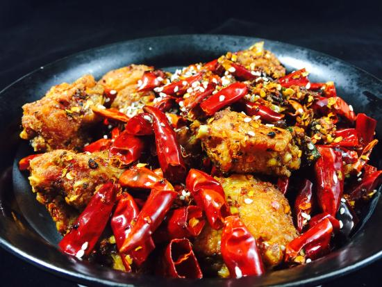 "Spices Fremont: ""La Zi Ji "" chicken wings with explosive chili pepper"