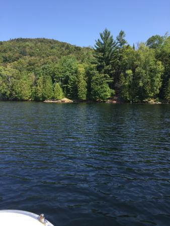 Placid Boat Rentals: View from our boat of Lake Placid