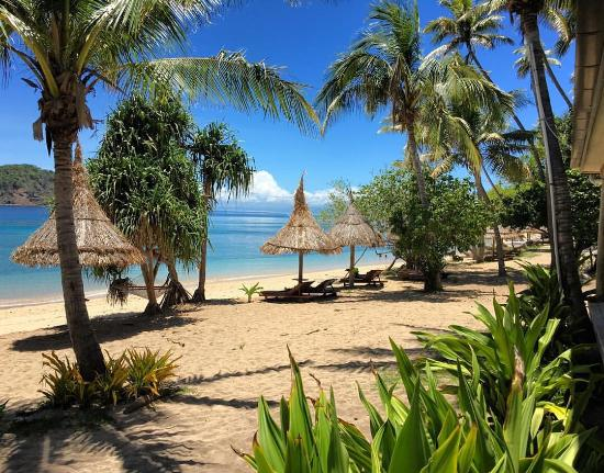 Naukacuvu Island, Fidschi: View at room