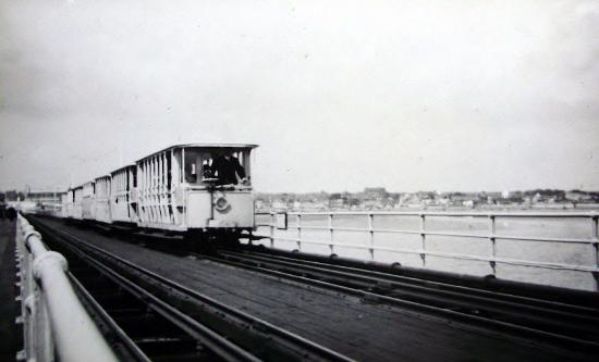 Southend Pier: 'Toastrack' pier train sometime in the 1920s-30s.