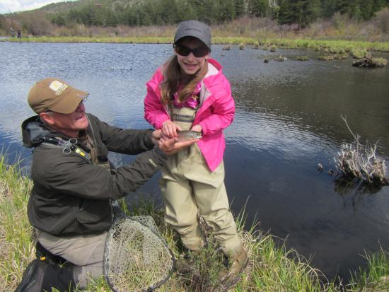 Buena Vista, CO: First Fish on a fly!