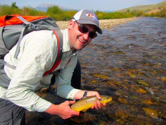 Buena Vista, Kolorado: Arkansas River wild brown trout.