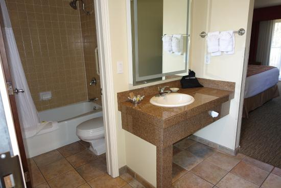 bathroom & vanity area with bright lighting - Picture of Best ...