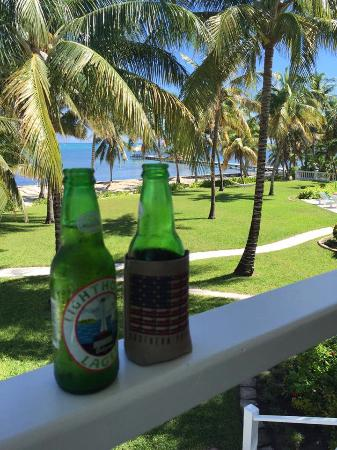 Victoria House: Cheers to the start of one memorable honeymoon in Belize. :)