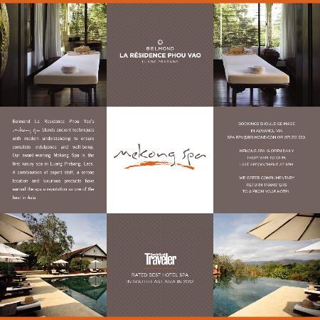 The Mekong Spa: flyer