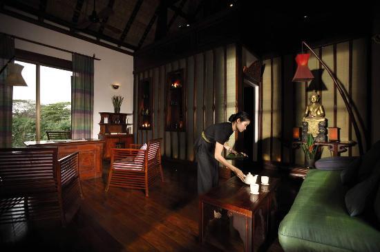 The Mekong Spa: reception area