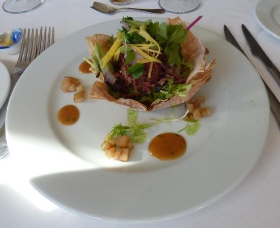 Altea la Vella, Spanien: Shredded duck salad