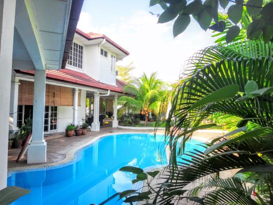 Rumah Putih Bed and Breakfast: Rumah Putih Swimming Pool
