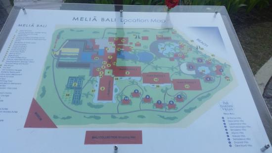 Map Picture Of Melia Bali Nusa Dua Tripadvisor