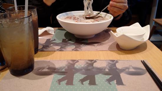 Pho soup at Pho Vietnamese Restaurant, Causeway Bay, Hong Kong