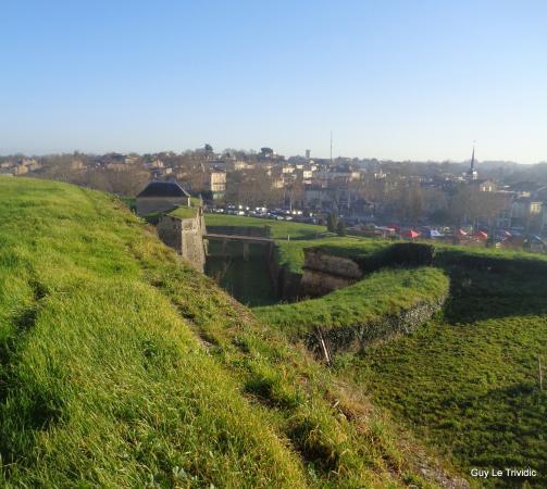 La ville de Blaye vue de sa citadelle,