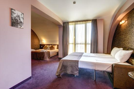 Budapest Hotel : Juior Suite with one King-size bed and one extend sofa prepared for a family with small children