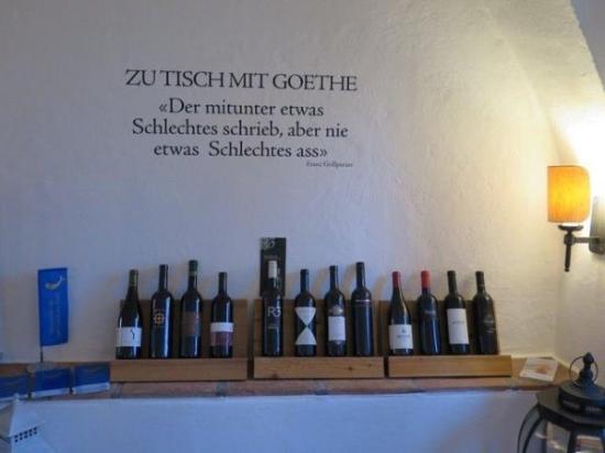 Stäfa, Suiza: Zu Tisch mit Goethe