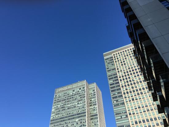 Hilton London Canary Wharf: 周辺のビル群