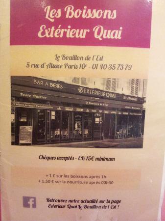 Bi re photo de exterieur quai paris tripadvisor for Exterieur quai