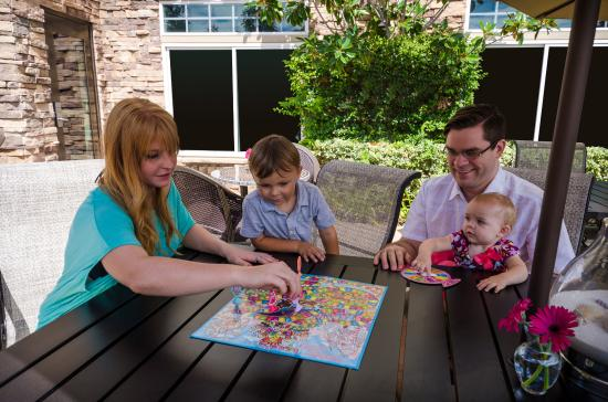 West Inn & Suites Carlsbad: Patio with Complimentary Board Games