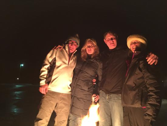 Manchester, VT: x-mas week at the fire pit