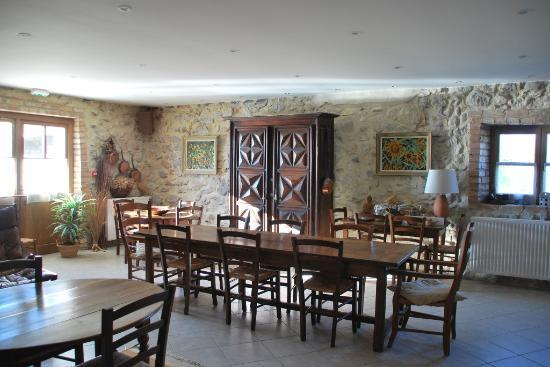 Allex, France: Le coin repas de la salle d'hôtes