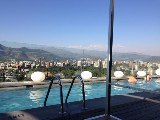 Rooftop pool vie...W Hotel Atlanta Rooftop Pool