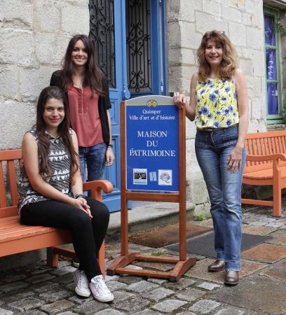 Maison du patrimoine : Une partie de l'équipe en juillet 2015
