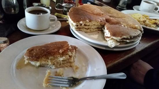Giant pancakes cut like cake Picture of The Griddle Cafe Los
