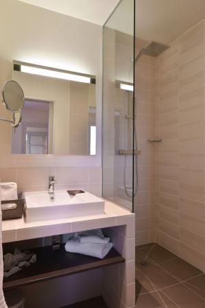 Dizy, Frankrijk: Salle de bain avec douche
