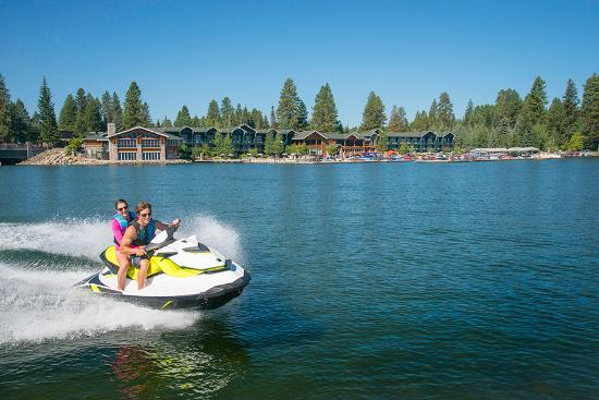 McCall, ID: Jet skiing at Shore Lodge