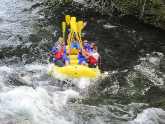 Monroe, OR: whitewater rafting at it's best on the McKenzie River