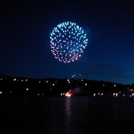 Blind Bay, Canada: July 1st Fireworks from Patio
