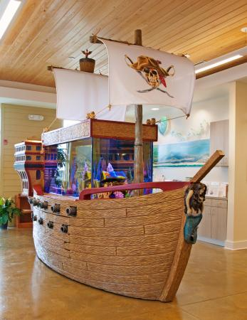 "Perdido Key Visitor Information Center: Stop by and see our one-of-a-kind Pirate Ship Fish Tank, built by Animal Planet's ""Tanked"" crew!"